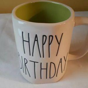 Rae Dunn Dining - Rae Dunn Happy Birthday Mug with Green